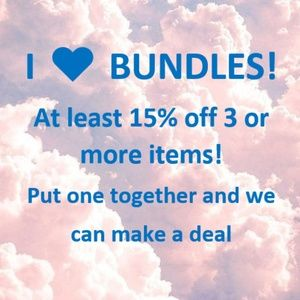 I ♥ Bundles! AT LEAST 15% off 3 or more items.